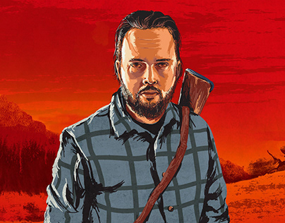 Red Dead Redemption style self portrait