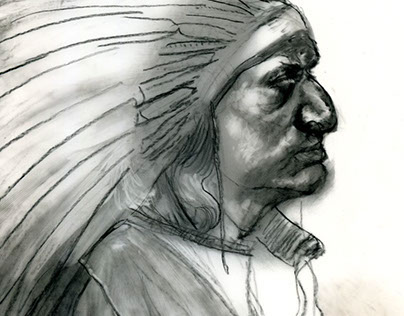 { Detail } ~ First Nation person with headdress