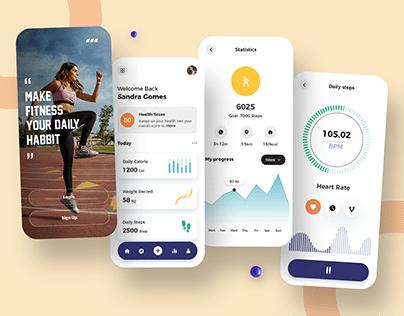 Fitness Tracker App Design