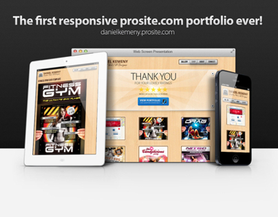 My responsive portfolio on prosite.com