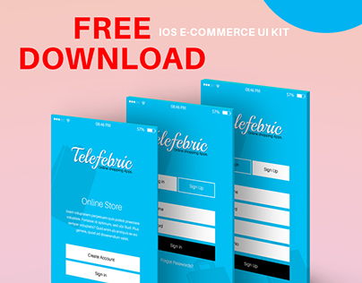 [FREE PSD] Telefebric - iOS E-commerce Apps Ui Design
