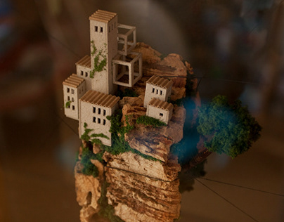 Cork Island - 2 floating miniatures