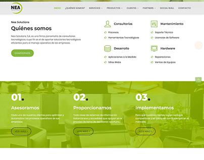 Maquetación, Diseño y Desarrollo - Website Nea Solutio