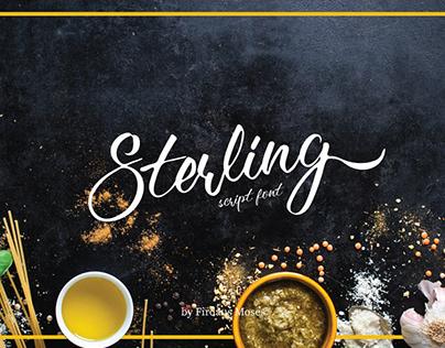Free Font Sterling Script