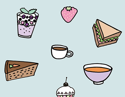Happy Food Doodles