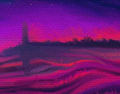 Ocean's velvet dusk
