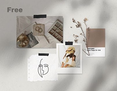 Free Natural Moodboard Templates