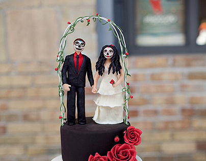 Day of the Dead Wedding Toppers
