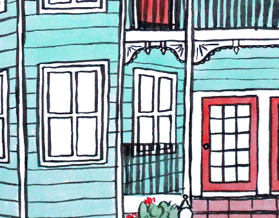 Galveston Architecture Illustrations