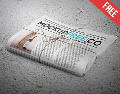 Newspaper / Newsletter Free PSD Mockup