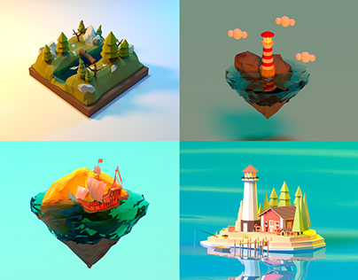 Low poly (1 part)