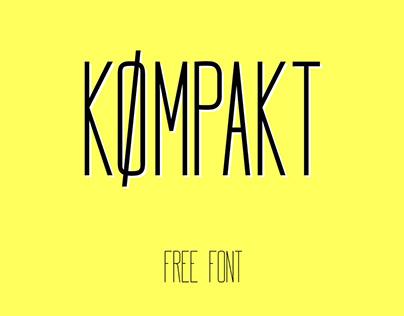 Kømpakt - Free font