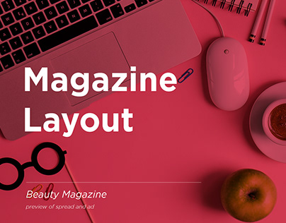 Cosmobiz Salon   Sample spread Layout and Ad