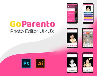 GoParento Photo Editor   UI/UX