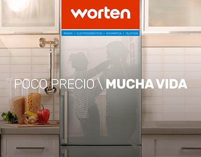 Worten Rebranding. POCO PRECIO / MUCHA VIDA