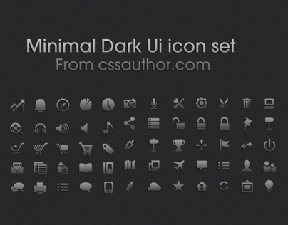 Minimal Dark UI icon set