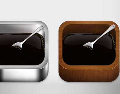 ios Apple Icon Template Metalic and Wooden PSD