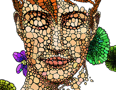 Beautiful Ginger Boy and His Nature - Textile Design