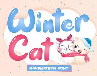 FREE | Winter Cat - Handwritten Font