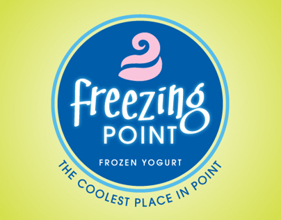 Logo for a self-serve frozen yogurt shop
