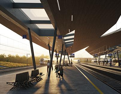 Népliget Railway Station   Design by Sporaarchitects