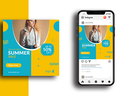 Summer Fashion Social Media Design Templete