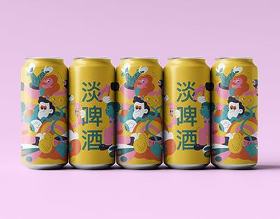 Pride beer illustrations