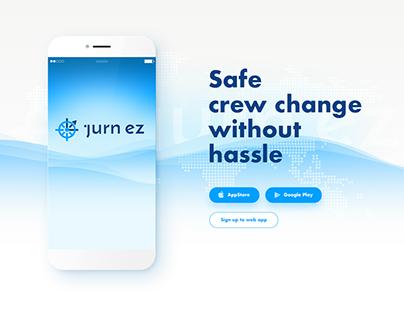 Landing Page for app presentation