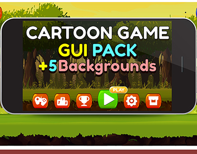Cartoon Game Gui Pack