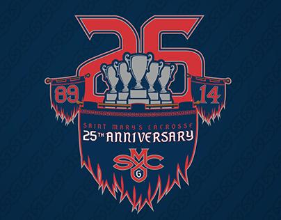 25th Anniversary Logo - Saint Mary's Lacrosse