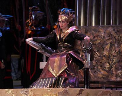 """Costume Abigaille for opera """"Nabucco"""" Giuseppe Verdi"""