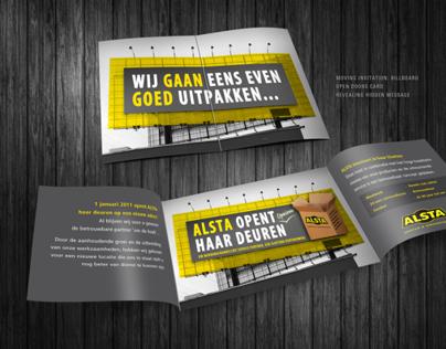 Alsta Invitation card 'Opening Doors'