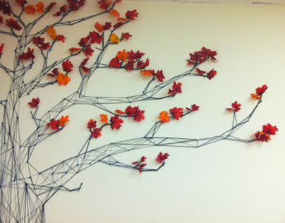 Yarn Mural Installations