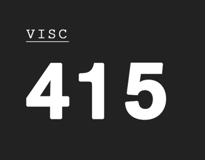 VISC 415 Motion Graphic Design