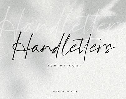 Handletters script font
