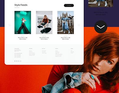 Fashion Wear UI/UX Web Design