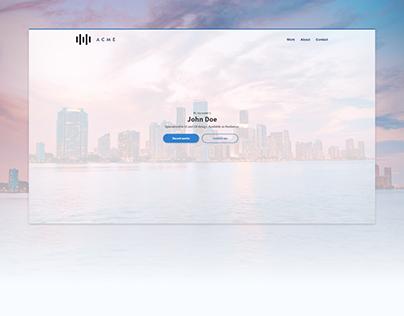 Basic Portfolio Website