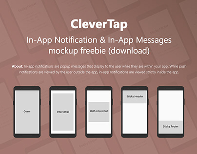 CleverTap In-App Notification & Messages mockup freebie