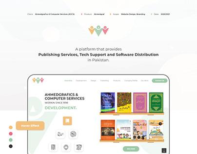 AhmedGraf Website UI UX - Case Study