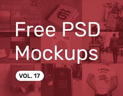 Free PSD Mockups vol. 17