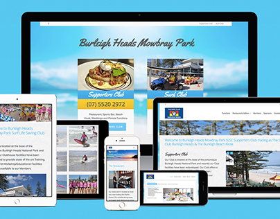 Burleigh Heads Surf Club Website Development