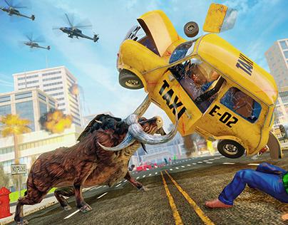 Dinosaur city Rampage: Animal Attack Simulator Wild