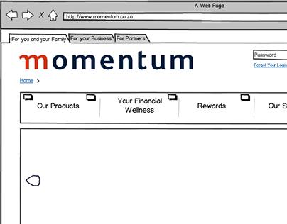 momentum.co.za - Re-design - Wireframes