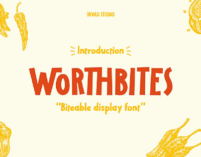 [40%OFF] Worthbites | Display Font