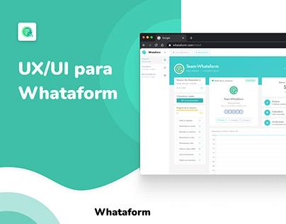 UX/UI para Whataform