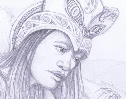 Hinewhaitiri illustrations
