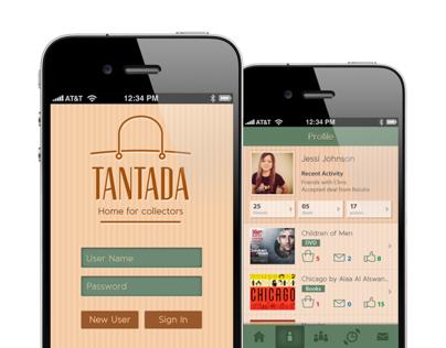 TANTADA - Branding & Interface Design of Shopping app
