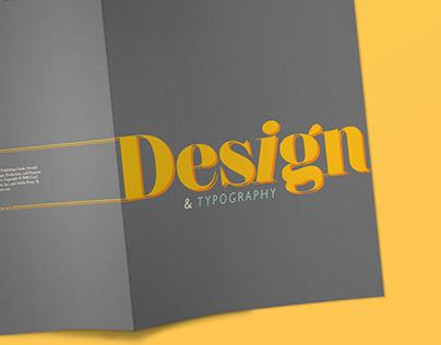 DESIGN & TYPE (editorial design)