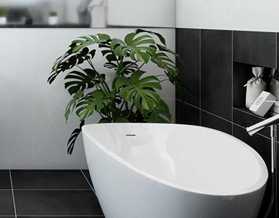 Black & White bathroom