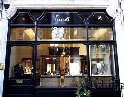 Pragnell Shop sign gilding in Mayfair London